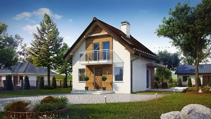 DOM.PL™ - Projekt domu SZ5 Z264 CE - DOM OZ5-96 - gotowy projekt domu
