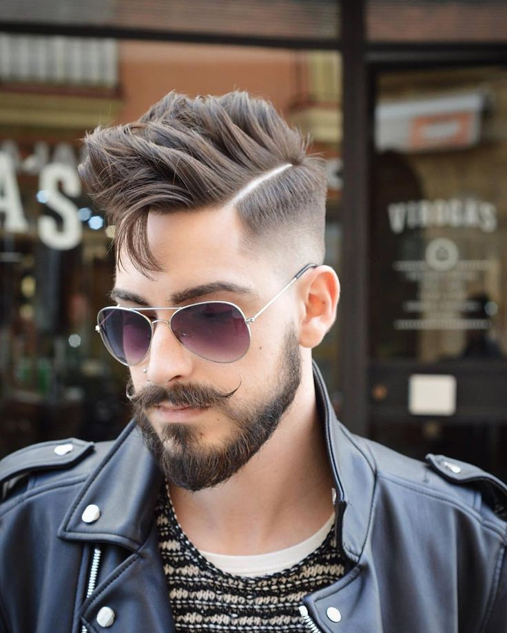 Mens Hair and Beard, Haircut by virogas.barber http://ift.tt/1LmF40Y