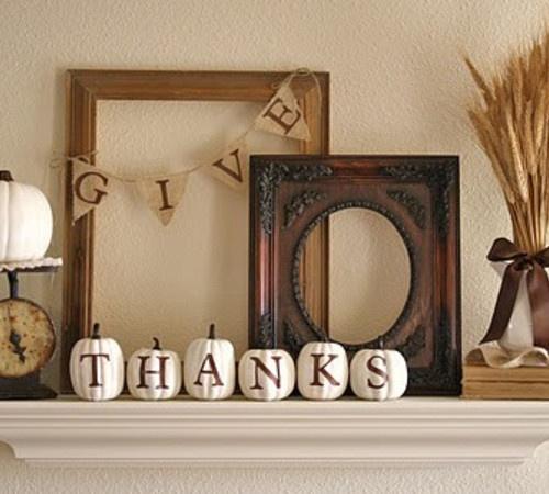 Thanksgiving mantle decor