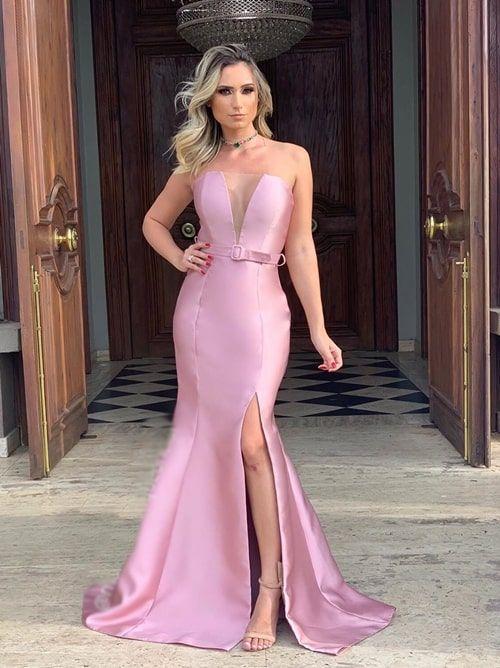 Vestido rosa para madrinha: 50 vestidos para usar em 2020 | Dresses, Gowns, Fashion