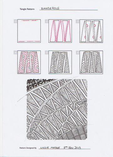 Banderole zentangle pattern by Lizzie Mayne