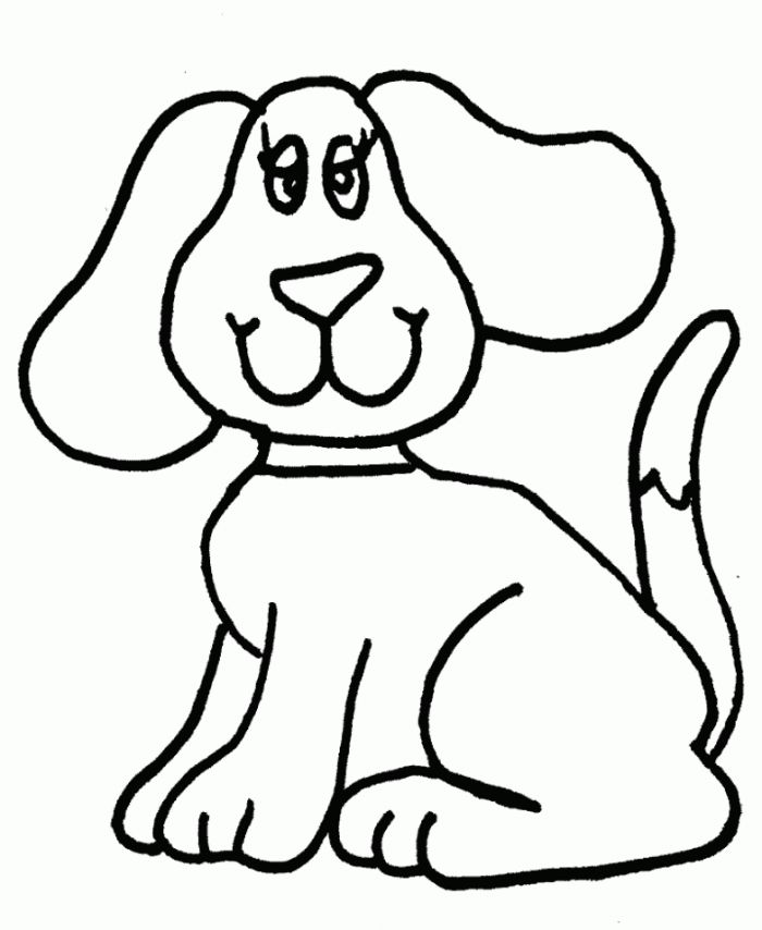 Easy Dog Coloring Pages