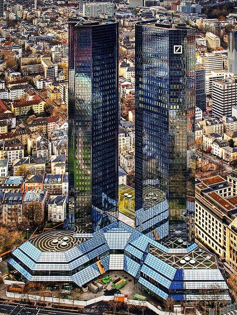 Deutsche Bank Towers in Frankfurt