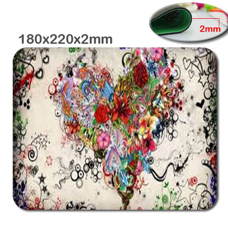 Tattoo heart Top Game Mouse Pad PC Computer Gaming Mousepad Fabric + Rubber Material in 220mm*180mm*2mm-   accessory and gift
