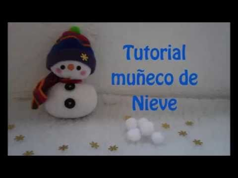 Tutorial muñeco de nieve - YouTube