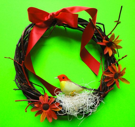 Love our wreath kit for $12 bucks! Everything to make it a winter or spring wreath!