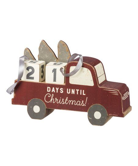 Primitives by Kathy Days Until Christmas Countdown Truck Block