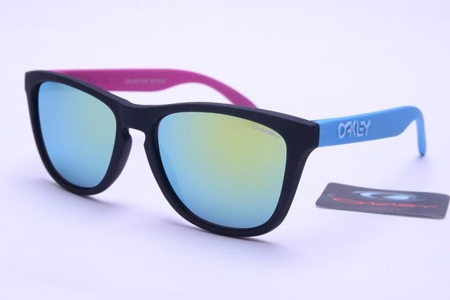 Oakley Frogskins Sunglasses Blue Pink Black Frame Colorful Lens [OK406] - $21.88 : Top Ray-Ban® And Oakley® Sunglasses Online Sale Store- Save Up To 85% Off