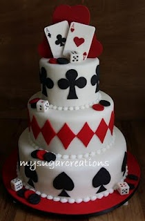 King and Queen of Hearts On Top! I love so many things about this cake!
