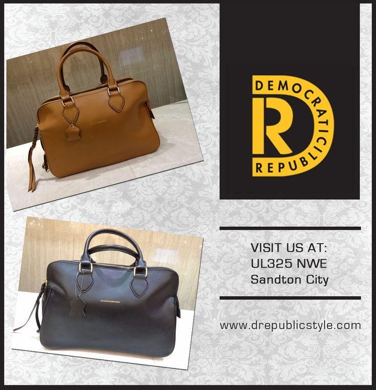 Treat yourself & accessorize your outfit with this stylish signature DemocraticRepublic handbag which comes in TAN or BLACK!