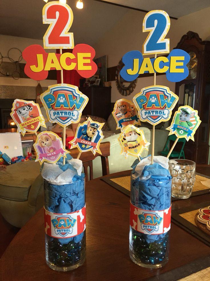 Original idea de decoración para fiesta de cumpleaños de Paw Patrol