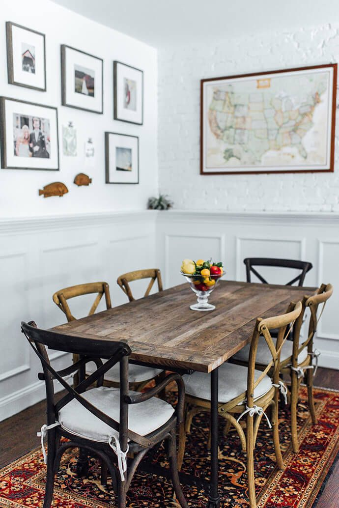 Touring The Picture Perfect Home Of Lauren Wells Wooden Dining TablesFarm Room
