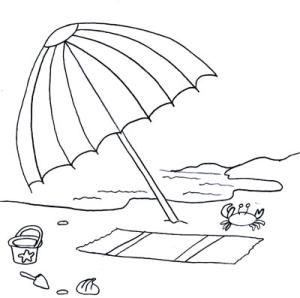 Beach Coloring Pages Printable Free