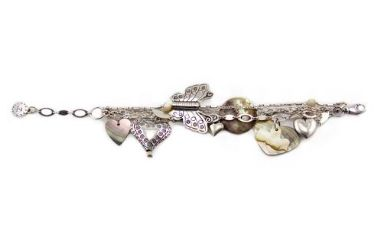 REMINISCENCE PARIS Butterfly and Hearts Silver Multi Chain Bracelet Purchase: $130.00 CAD