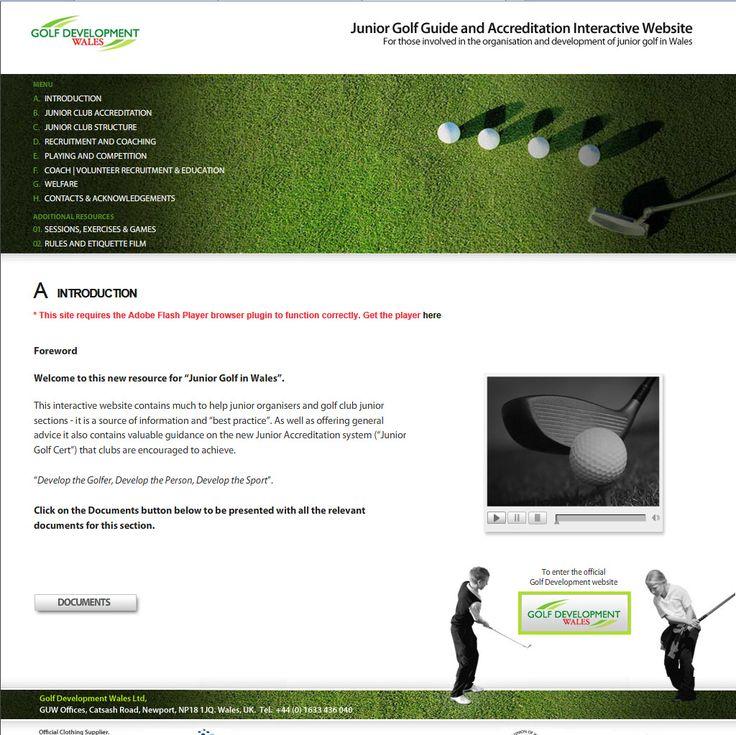 Junior Golf online resource website.= created by Genieseye