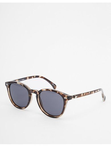Le Specs Bandwagon Round Sunglasses - Brown www.sellektor.com