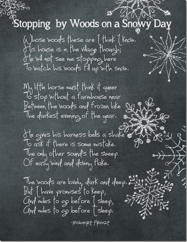 Winter Poem Printable FREE Download from ChaosServedDaily.com