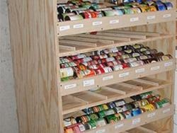 Tutorial to build a rotating canned food shelf. Love the idea. Trying not to buy food in tin cans though so wondering whether it would work for sturdy glass jars? Probably not. Great idea though!