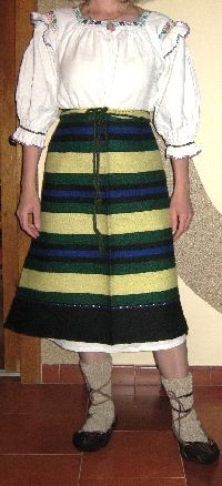 Superb antique Romanian traditional costume from Maramures . Age about 70 years ago. Available at www.greatblouses.com