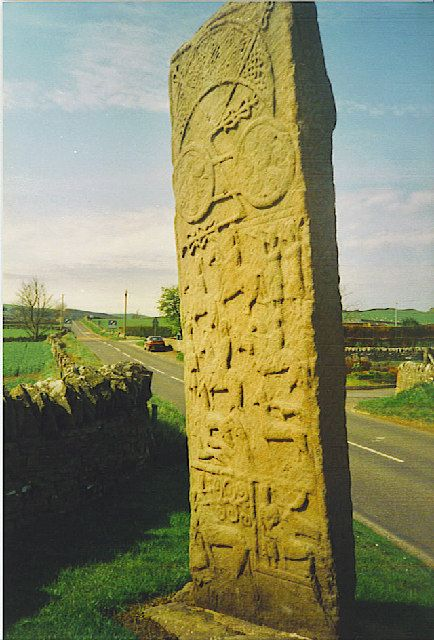 Pictsish Standing Stone, Scotland. The Picts were an ancient tribe, given the name by the Romans. The name means Painted Ones; even the Romans were scared of the Picts.