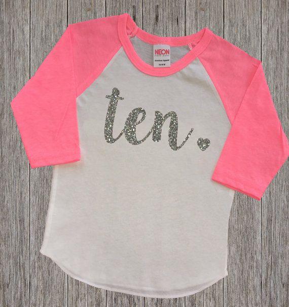 Ten Year Old Birthday Shirt   Tenth Birthday Girl Shirt   10 Year Birthday Shirt   10th Birthday Shirt   Birthday Girl Outfit   Raglan