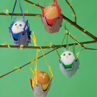 Rock-a-Birdies - eco-friendly craft with rocks and a recycled egg carton
