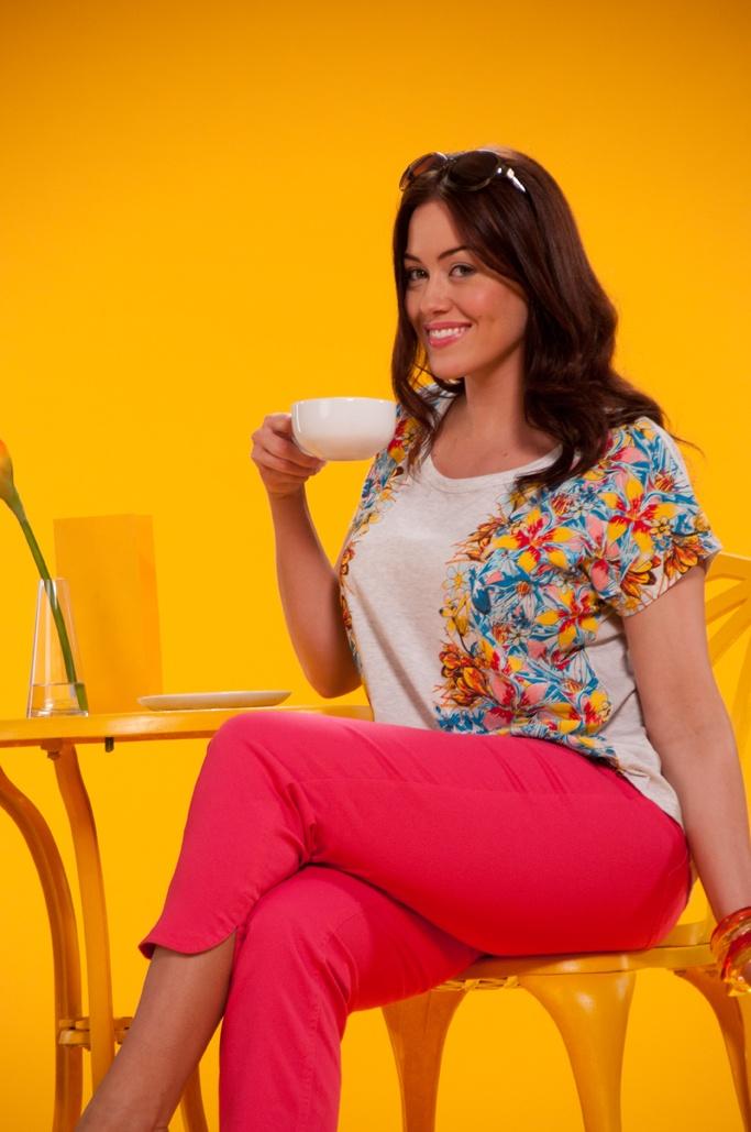 Laura taking a quick tea break!