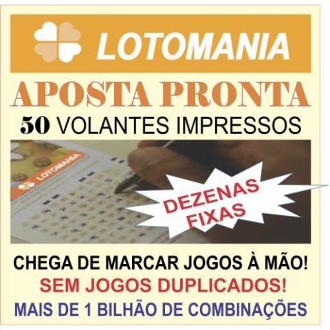 LOTOMANIA APOSTA PRONTA