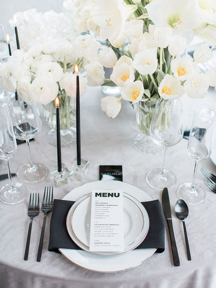 Graphic Modern Wedding Design in Black and White