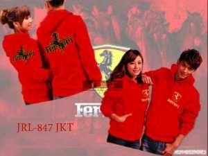 Jaket Couple Ferrari  Ket:  ukuran : Co: Lebar dada 48cm, panjang 70cm Ce: Lebar dada 40cm, panjang 63cm  Harga : Rp 156.000,-