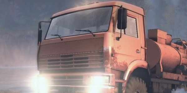 Spintires features trucks with soul - Spintires' D-537 truck has such a sad face. It's flat and it's somehow clenched, with those two oblong window panes providing sombre stand-ins for huge, brimming eyes. If it was