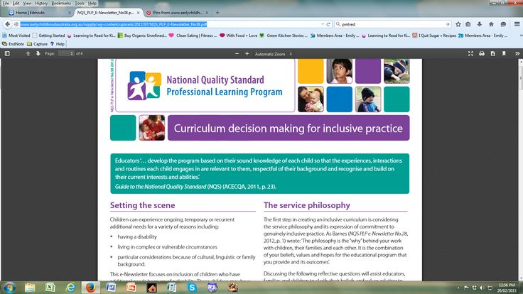 This pin offers information about inclusive practice and this relates to the concept of respecting and fostering difference. This is supported by the 'Code of Ethics,' (Barblett et al., 2006) which highlights the importance of ensuring children do not experience discrimination. Barblett, L., Buckell, J., Cheeseman, S., Clyde, M., Fasoli, L., Hydon, C., & Woodrow, C. (2006). Code of Ethics. (Reprinted from: 2009).