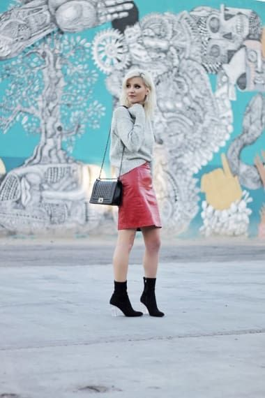 Grunge Outfit from thenomisniche with ROMWE Sweaters, Rebecca Minkoff Shoulder Bags, Pepe Jeans Skirts, Jessica Simpson Boots