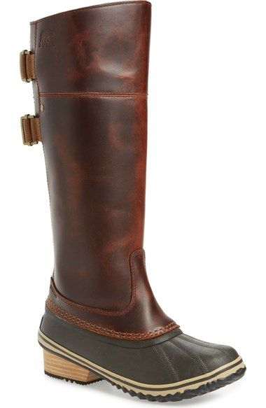 SOREL 'Slimpack I' Waterproof Riding Boot (Women) available at #Nordstrom