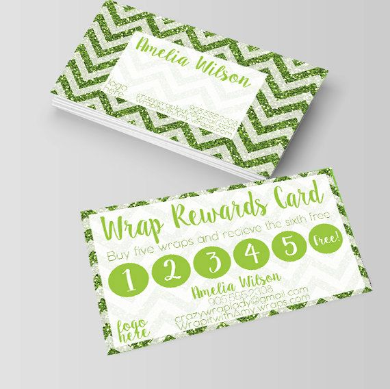 It Works Business Cardswraps Rewards Card Loyalty Cards Punch