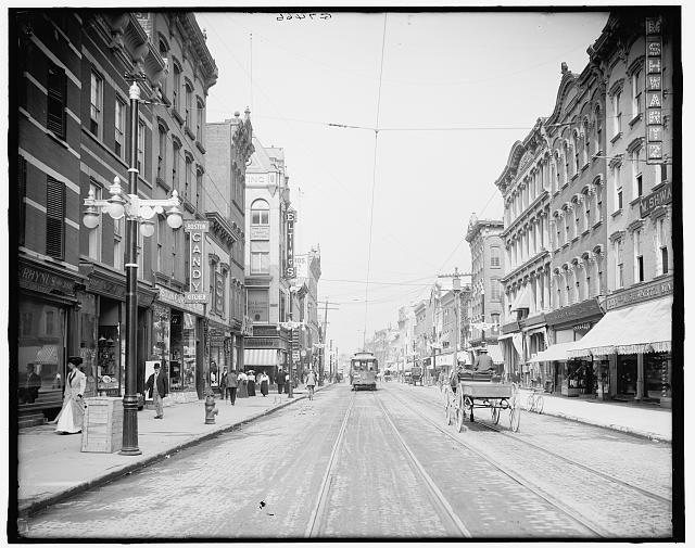 Main Street in Poughkeepsie, New York