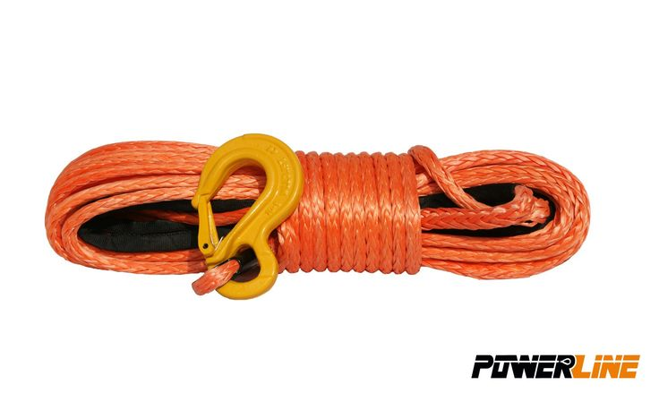 Corde synthétique orange pour treuil diam. 6mm x 15m + crochet -   ref: PLN6X15KH-O   Corde synthétique Powerline pour treuil, diamètre 6mm., Longueur 15m. couleur: Orange.   #treuil #treuil74 #Cordes Synthétiques treuils #4X4 #quad #SSV  http://www.treuil74.fr/quad/11852-corde-synthetique-orange-pour-treuil-diam-6mm-x-15m-crochet.html  10%---59,90 €