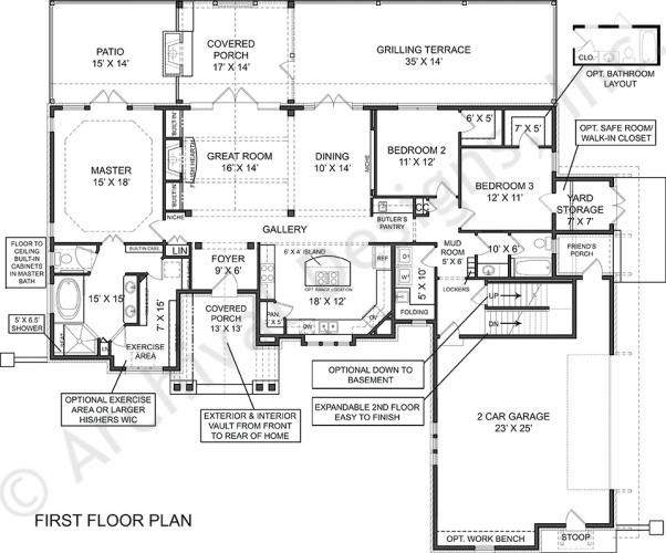Laurel House Plan - First Floor Plan