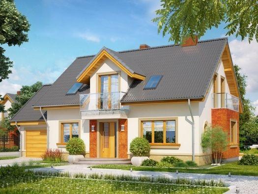 Enklawa zwraca uwagę nowoczesnymi detalami fasad i prostą bryłą, dzięki której będzie tani w budowie i eksploatacji.