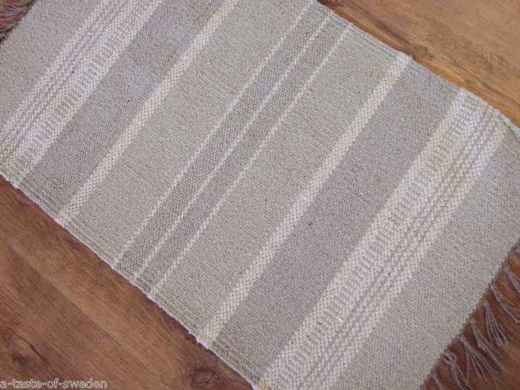 Cotton and Jute Rugs in Bands of Natural with Offwhite stripes 75 x 135 cm size | eBay