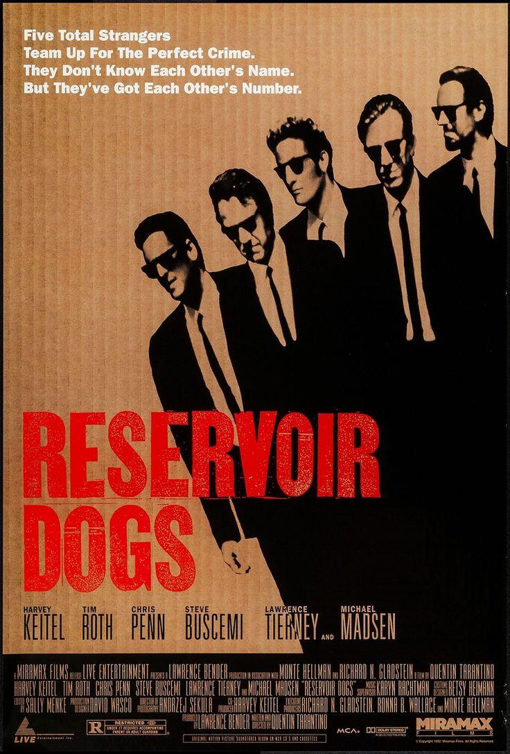 "Reservoir Dogs (1992) Single Sided Movie Poster 27"" x 40""  $400.00 • #MoviePosterDirect #MoviePoster #QuentinTarantino #ReservoirDogs #Crime"