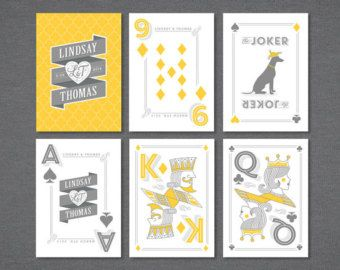 personalised playing cards wedding - Google Search