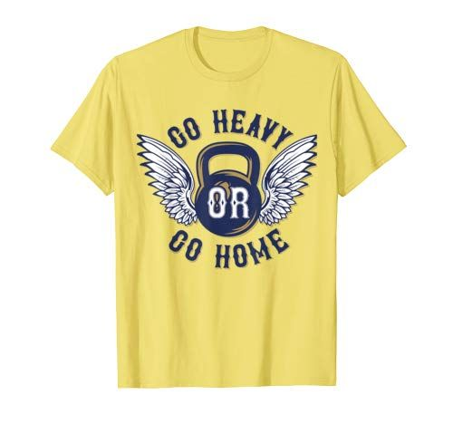 14 99 Go Heavy Or Go Home Retro Vintage Gym Workout T Shirt Show Everyone That You Love Sports With This T Shirt Are You G Workout Tshirts Shirts T Shirt