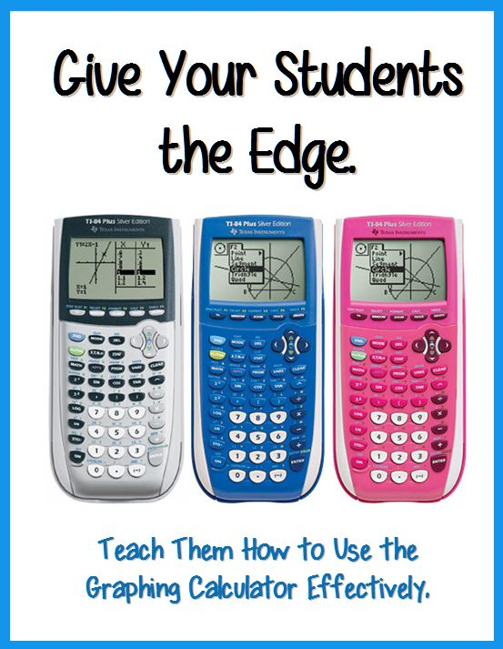 Be the class hero with the Graphing Calculator! Show you Algebra, PreCalculus, Trigonometry, Calculus, and Statistics students all the ins and outs of how to use the TI-83 Plus and TI-84 Plus.
