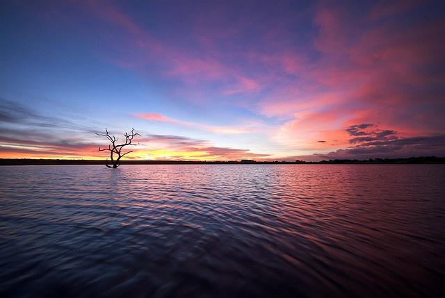 Africa | Sunset in Antelope Park, Zimbabwe | © Marleen Lammers