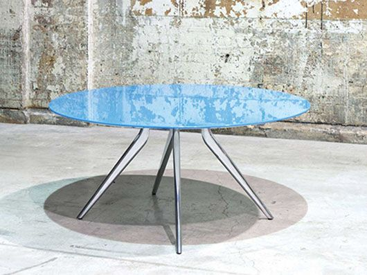 Iona Table, made to measure top in specified material.