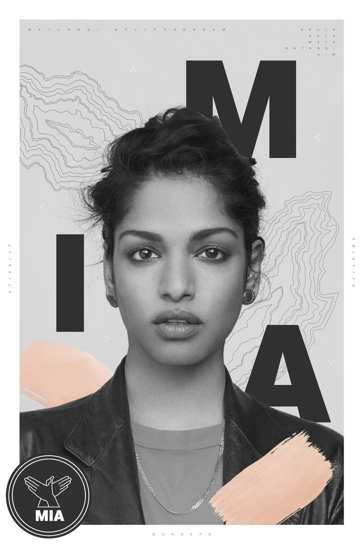 M.I.A. Borders graphic poster