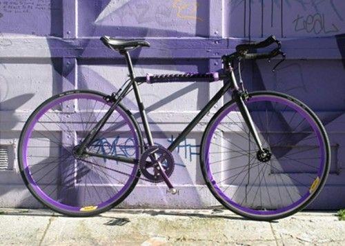 colorful bike rim photos from design spongeBikes Swag, Bicycles, Bikes Rim, Bikes Stuff, Purple Bikes, Bikes Repaint, Black Purple, Bikes Re Painting, Colors Bikes
