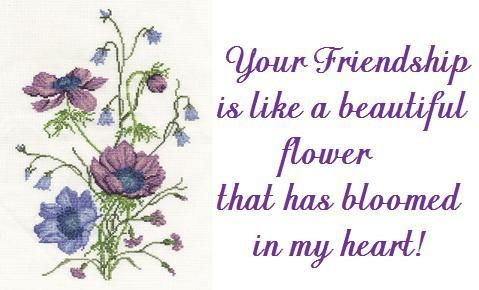 Your friendship is like a beautiful flower.... quote
