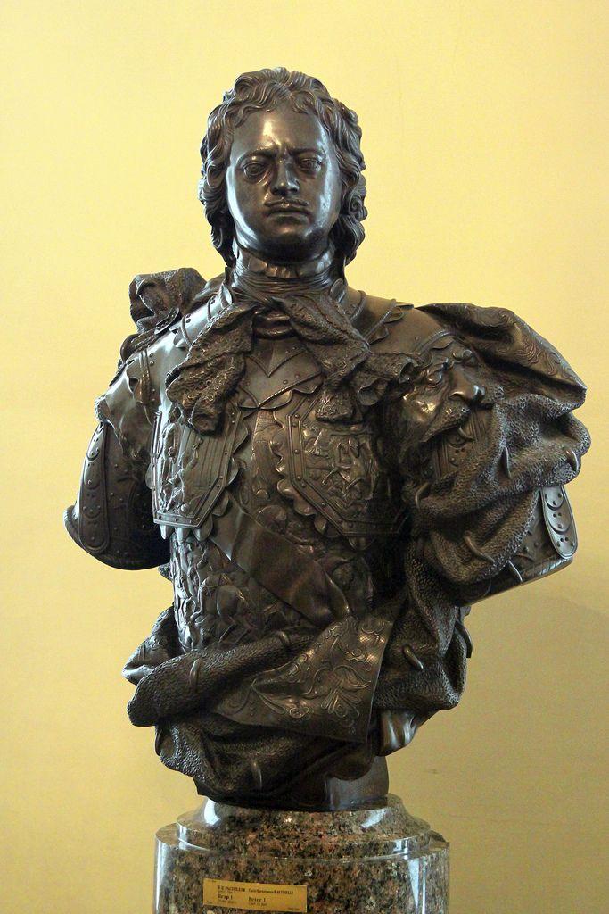 Peter the Great (1672 – 1725), his bust in the State Russian Museum, St. Petersburg, Russia. #Romanov